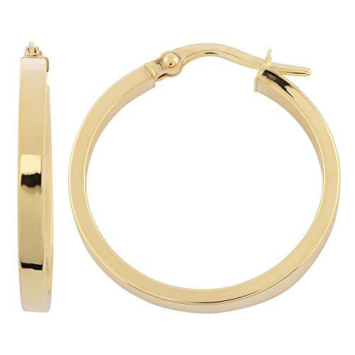 10k Polished Hoop - Kooljewelry 10k Yellow Gold 2.4x21 mm Polished Hoop Earrings