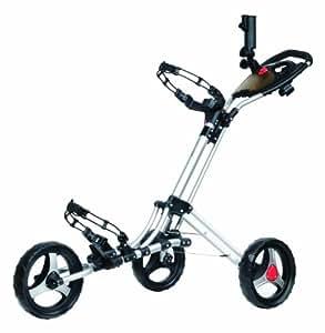 CaddyTek CaddyLite One Click Folding Golf Push Cart (Silver)