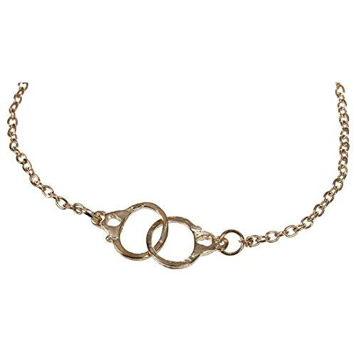 Bracelet de Menottes - SODIAL(R) Style Concise Mode et Retro Menottes en alliage Bracelet Chaine-or