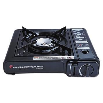 fancyheat portátil estufa de butano, 10.000 BTU, encendido piezoeléctrico, Negro - Incluye one portátil estufa de butano con funda.: Amazon.es: Hogar