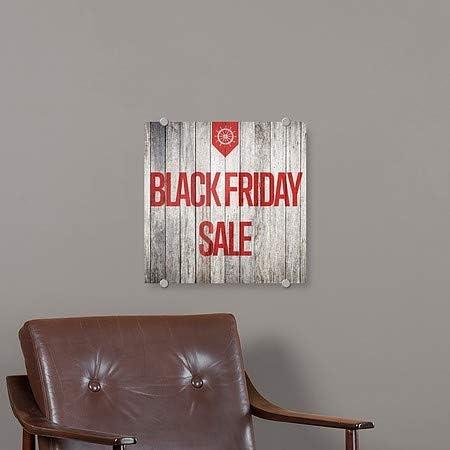 CGSignLab 16x16 Black Friday Sale Nautical Wood Premium Acrylic Sign