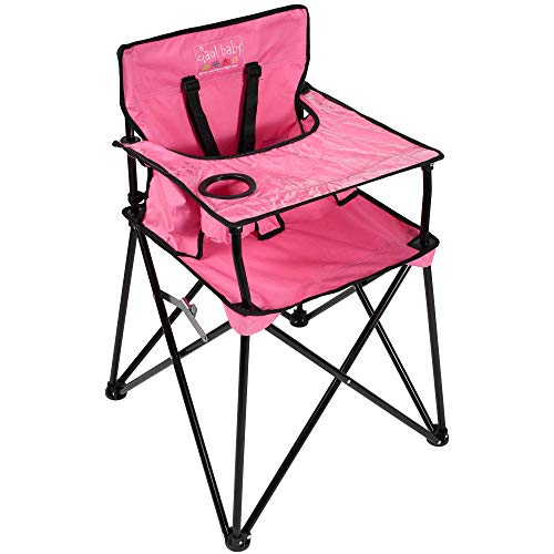 (ciao! baby Portable Travel Highchair, Pink)