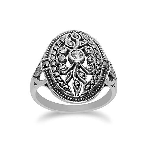 Gemondo USA 925 Sterling Silver Marcasite Ring (7)