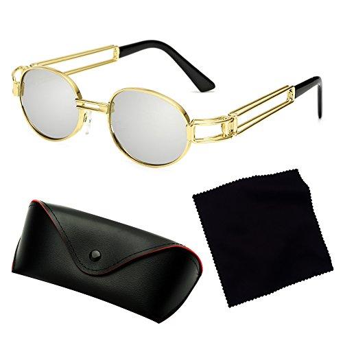 rétro de Juleya lunettes métal Vintage C2 en soleil ovale Steampunk femmes hommes ronde lunettes x77raE