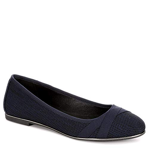 Mesh Ladies Pumps - XAPPEAL Womens Mitzie Slip On Mesh Flat Shoes, Navy, US 8