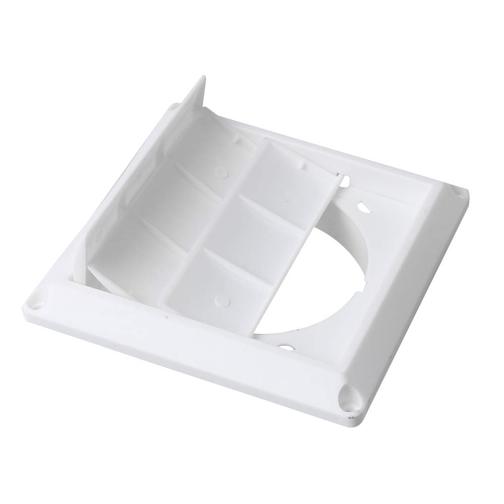 4 Inches Diameter Hood Vent Hood Louvered Outdoor Dryer Vent Cover Plastic Flush