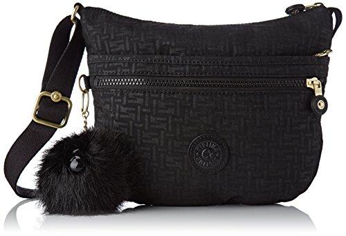 Kipling Women's Arto S Cross-Body Bag Black (Black Pylon Emb)