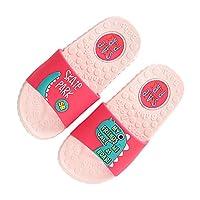 Kids Summer Non-Slip Slippers Boys Girls Cute Cartoon Bath Slippers Outdoor Sandals Pink 1 M Little Kid