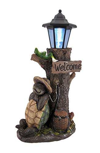 Turtle Won The Race Solar LED Welcome Statue ()