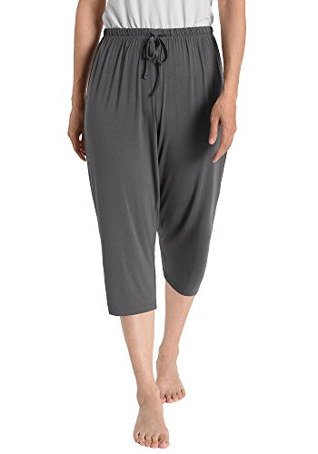 Latuza Women's Knit Capris Sleepwear S Gray ()