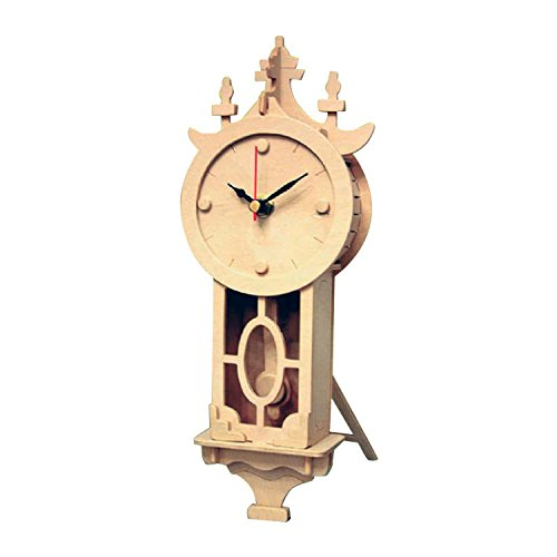Wall Clock: Wood Craft Assembly Wooden Construction Clock - Wood Clock Kits