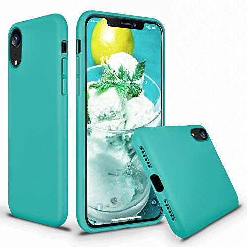 - Cozosun for iPhone XR Case, Soft Silicone Gel Rubber Bumper Case Full Body Shockproof Protective Case Cover with Anti-Scratch Microfiber Lining Hard Shell for Apple iPhone XR, Teal Bule