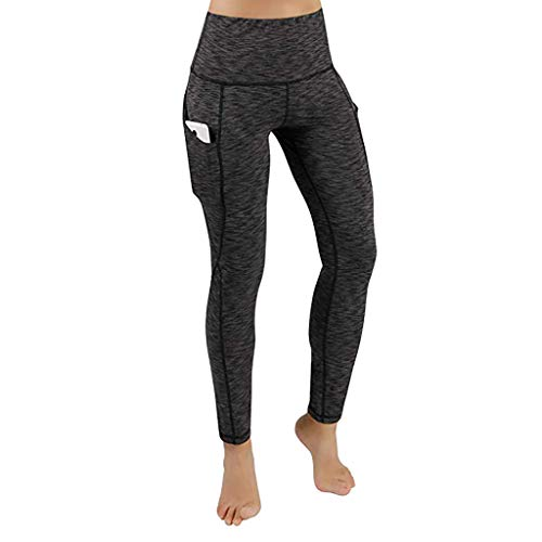 Women's Pocket Hip Yoga Pants Solid Color Leggings Exercise Leggings Fitness Running Pants MEEYA -