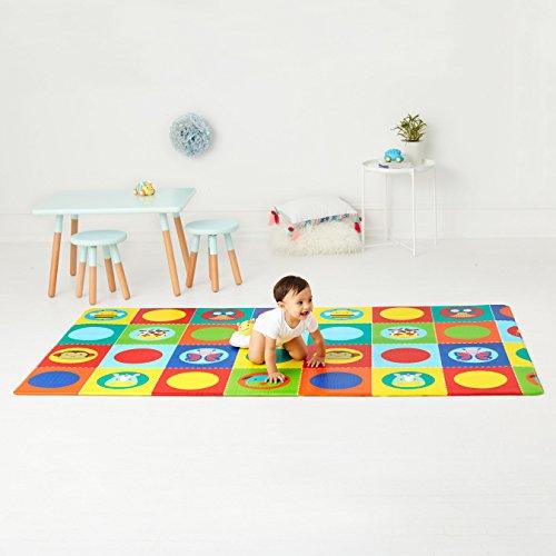 Skip Hop Zoo Reversible Waterproof Foam Baby Play Mat, Multi Colored, 86'' X 52'' by Skip Hop (Image #2)
