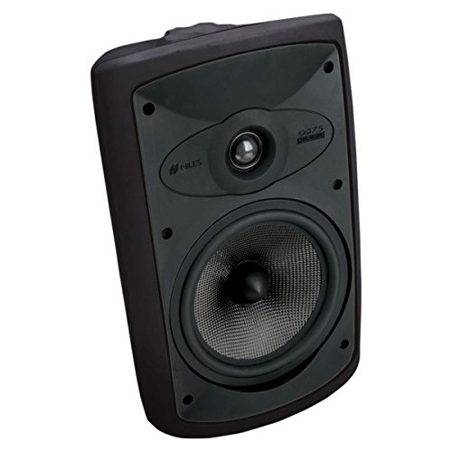 Niles OS7.5 Black (Pr) 7 Inch 2-Way High Performance Indoor Outdoor Speakers (FG00997) by Niles