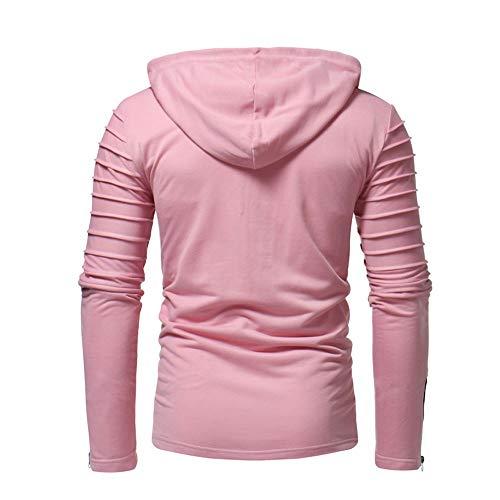 HHei_K Mens Autumn Winter Casual Plain Slim Fit Long Sleeve Full Zipper Coat Pocket Hoodies Sweatshirt Blouse by HHei_K (Image #2)