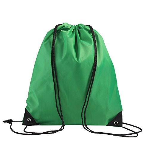 LIHI Bag 10 Pack Ripstop Drawstring Backpack,Party Favors Treat Bags,Hunter Green ()