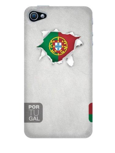 Ideus DRAPEAUX-Portugal-Coque de caoutchouc pour Apple iPhone 4 et Apple iPhone 4S
