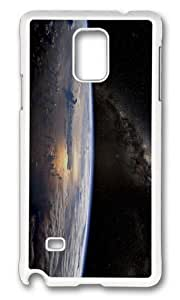 Adorable Earth View Space Hard Case Protective Shell Cell Phone HTC One M7 - PC White