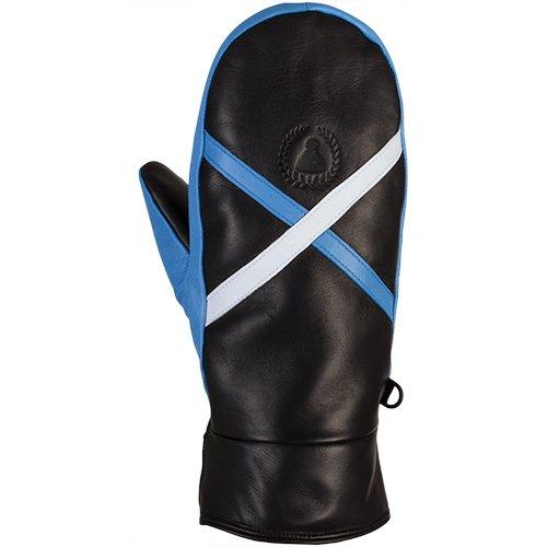 Sionyx MittenTheX schwarz/weiß/blau Lederhandschuhe Ski Snowboard Winter