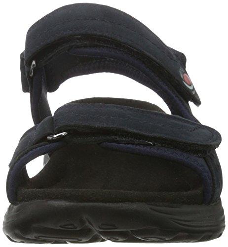 Gabor Shoes Rollingsoft, Sandalias con Cuña para Mujer Azul (nightblue 46)