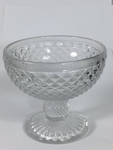 Cut Glass Stem Dessert Sherbet Cocktail Glass, ()