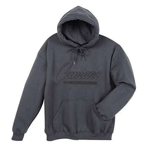 David Carey Officially Licensed Men's Camaro Badge Hoodie - Dark Gray Sweatshirt - XL