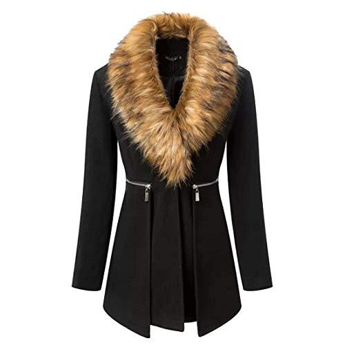 Automne Roul Outerwear Mode Young Unicolore Huixin Classique Manteau Parker Trench Coat Manches Longues Styles Casual 3 Col Irregular Schwarz Button Longues Femme Printemps wxfSx