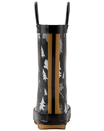 Oakiwear Kids Rubber Rain Boots With Easy-on Handles, Wildlife Tracker, 4Y US Big Kid - Image 4