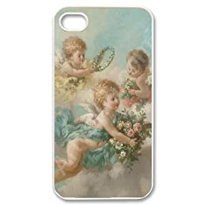 HXYHTY Customized Print Cupid Cherub Pattern Back Case for iPhone 4/4S