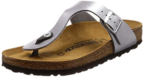 Birkenstock Gizeh Sandal (Infant/Toddler/Little Kid),Silver,31 M EU (13-13.5 M US Little -