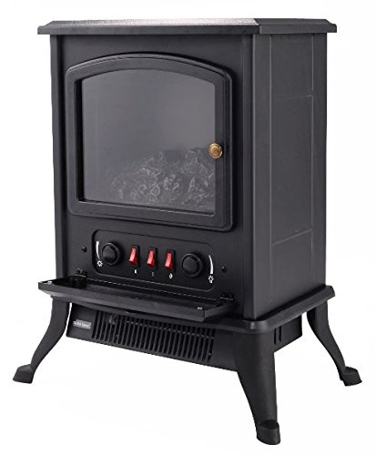 K&A Company Adjustable Metal Electric Fireplace Heater 1000 W New 17.12'' x 11.14'' x 21.57'' 120 V