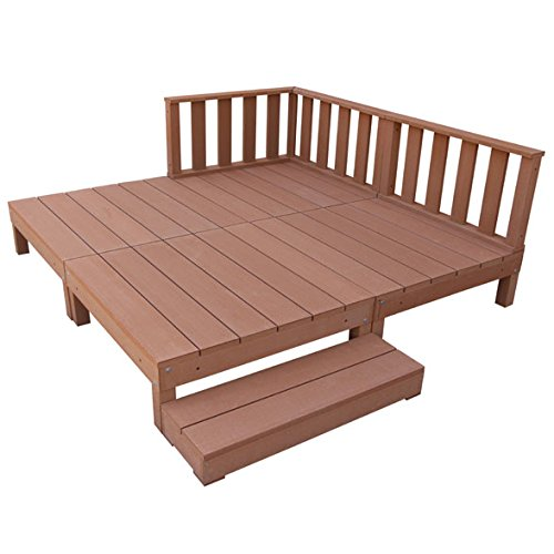igarden アイガーデン アイウッドデッキ8点セットナチュラル アイガーデンオリジナル人工木ウッドデッキ、樹脂木、木樹脂、プラウッド、ウッドデッキセット、木製デッキ、縁台 B00DAC31YC