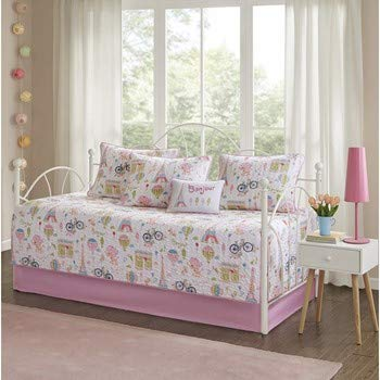 Daybed Kids Comforters - Mi Zone Kids Bonjour Daybed Set, Pink
