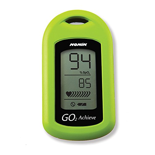 Nonin Medical GO2 Achieve Personal Fingertip Pulse Oximeter, Green, Made in the...