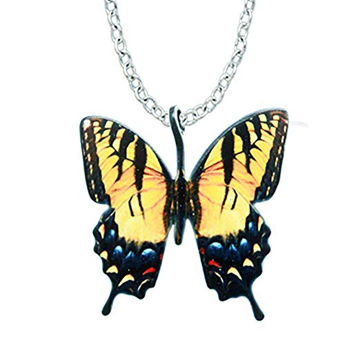 - d'ears Tiger Swallowtail Butterfly-Shaped Necklace Stainless Steel 18