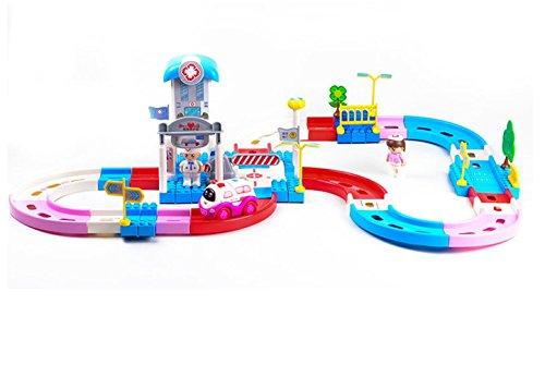 Zhenyu 89pcs子電動おもちゃレールVehicle ElectricトラックTrain Play Houseおもちゃ誕生日ギフトfor Childrenの商品画像