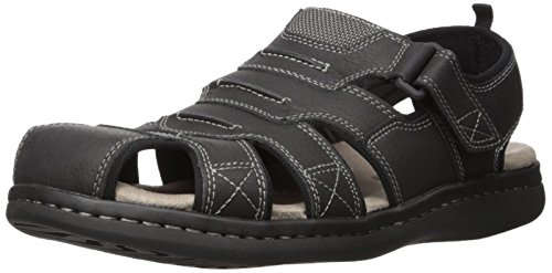 Dockers Men's Searose Fisherman Sandal, Black, 10 M US ()