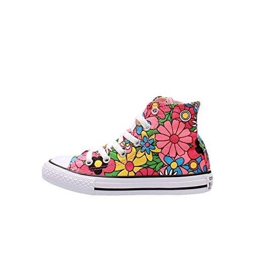 Converse - Converse All Star Chuck Taylor Scarpe Sportive Bambina Rosa Fiorate 652710C FLOWER POWER XxbEN4PI