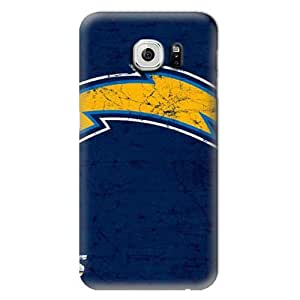 S6 Edge Case, NFL - San Diego Chargers Distressed - Samsung Galaxy S6 Edge Case - High Quality PC Case