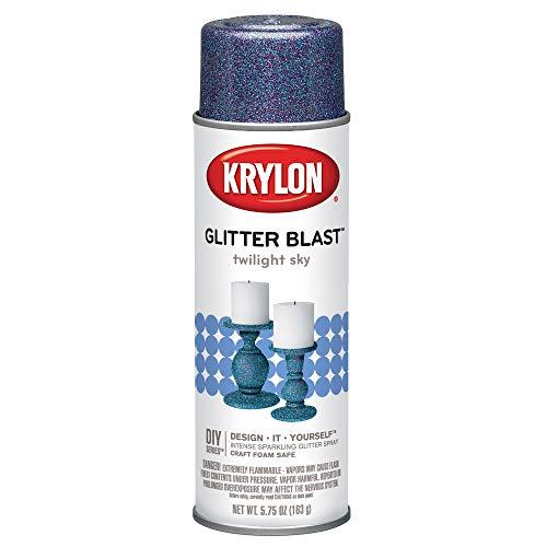 Krylon K03811A00 Glitter Blast, Twilight Sky, 5.75 Ounce