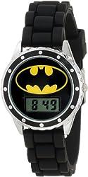 "Batman Kids' BAT4045 ""Batman"" Watch with Black Rubber Band"