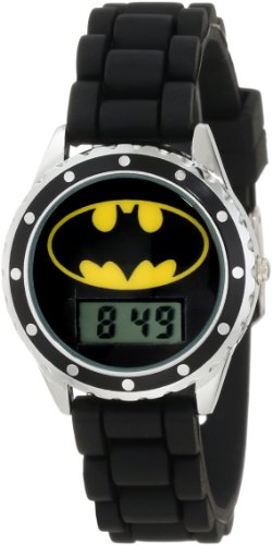 "Batman Kids' BAT4045 ""Batman"" Watch with Black Rubber Band"