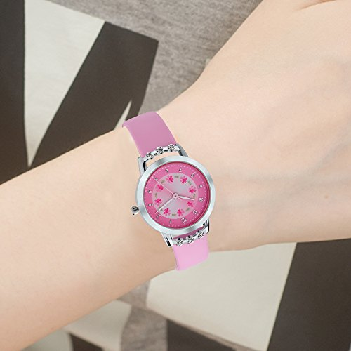 Dovoda girl watches easy reader time teacher flowers diamond leather watch for kids buy online for Dovoda watches