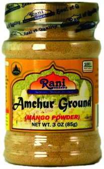 Rani Amchur (Mango) Ground Powder Spice 3oz (85g) ~ All Natural, Indian Origin | No Color | Gluten Free Ingredients | Vegan | NON-GMO | No Salt or fillers (Best Chana Masala Powder)