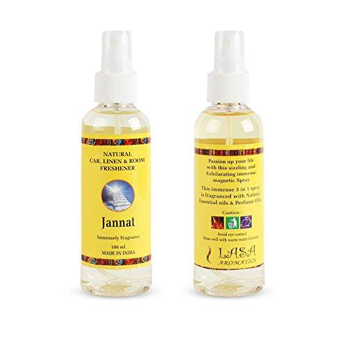 100 Ml Room Spray - Jannat Fragrance 100% Natural Pure Car Linen And Room Freshener Atomizer Spray - 100 ml