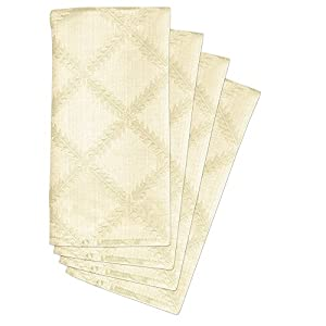 Lenox Laurel Leaf Set of 4 Napkins, Ivory