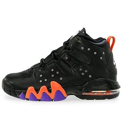 huge discount a5fd7 f6a7a Nike Air Max Barkley (GS) Boys Basketball Shoes Black Black-Safety Orange