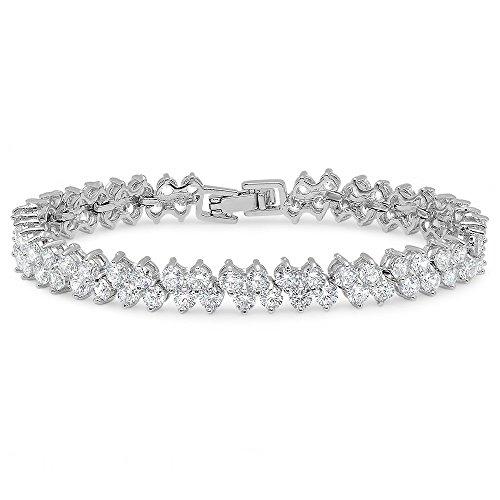 Steeltime Womens Plated Cluster Bracelet