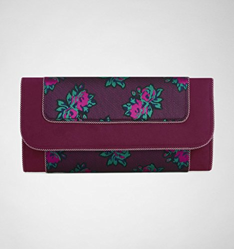 Ruby Shoo CHARLESTON Vintage FLORAL Suede Brocade Retro CLUTCH Tasche Rockabilly